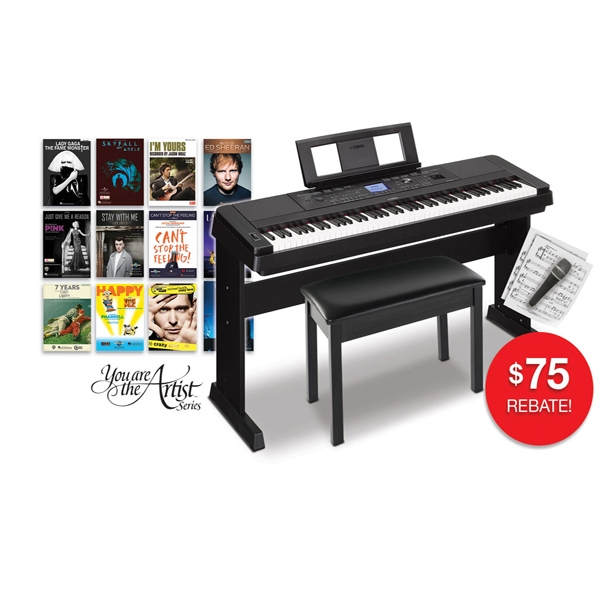 yamaha dgx 660 digital piano keyboard. Black Bedroom Furniture Sets. Home Design Ideas
